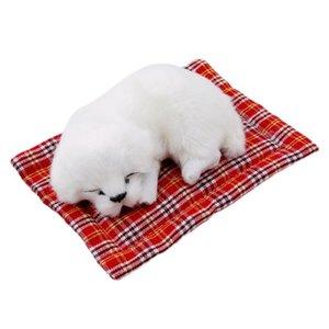 Cute simulation sleeping dog model car family dog ornament cloth pad sleeping dog plush doll toy