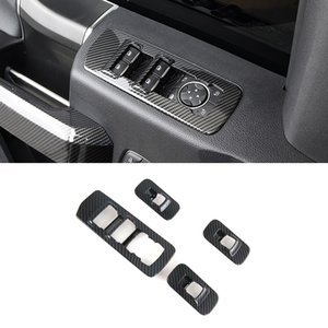 CarMango for Ford F150 2015-2020 Car Accessories Inner Door Handle Cover Armrest Handrail Sticker Frame Interior Moulding Trim