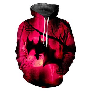 und Männer Trainingsanzüge Frühling Herbst Halloween Nacht Bat Pullover Mode Sportswear Casual Hoodie