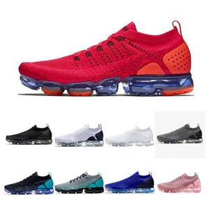 2021 chaussures moc 2 الاحذية الثلاثي الأسود مصمم رجل النساء أحذية رياضية يطير الأبيض متماسكة وسادة المدربين حجم 36-45