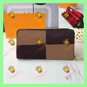 Checkered womens men Wallets Handbag 919 2021 Casual Fashion Style Simple Atmospheric Wallet Multicolor