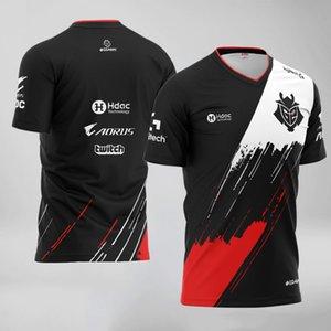 G2 ESPorts Camiseta Juego LOL CSGO Top Team Pro Player Hombres Mujeres Moda Streetwear T Shirt High Calidad ID Personalizado Jersey Ropa de Jersey Jersey