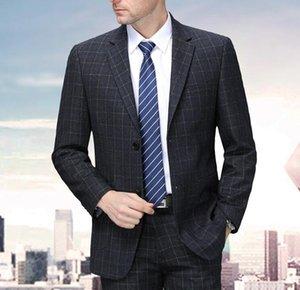 Осень и зимний мужской костюм профессиональный костюм без железа Высококачественный костюм шерстяной одежды в западном стиле деловая одежда