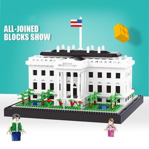 BALODY Plastic blocks toys kits White House model toy small particle micro diamond building block assembly