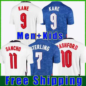2021 Dele Alli Futbol Formaları Kane Rashford Vary Barkley Sterling STurridge Sancho Jersey 2022 Yetişkin Erkekler + Çocuk Kiti Futbol Gömlek