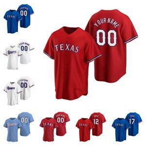 2021 Texas Ryan Jerseys 13 Joey Gallo 29 Adrian Beltre 7 Ivan Rodriguez 12 Rougned Odeur 5 Willie Calhoun Gibson Choo Jersey de baseball Mathis