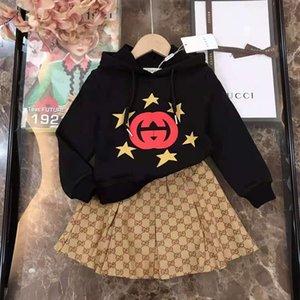kid winter girls clothe set flower girl dress for wedding 2021 boutique toddler kids clothing sets shirt+skirt 100-150 cm cotton material