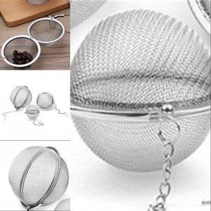 DHL FedEx 200 pcs / lote de aço inoxidável de chá de aço inoxidável Infuser Bola de filtro de malha 5.5cm D 439 S2