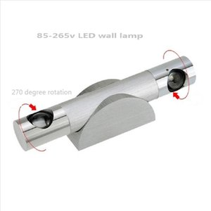 85-265v Led Wall Lamp 3w El Restroom Bathroom Bedroom Bracket Light 270 Degree Flexible Rotation Warm Cool Blue Spotlights