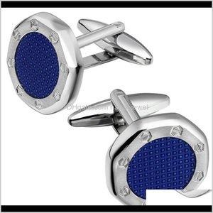 Hawson Classic Enamel Cufflinks For Men Fashion Jewelry Men'S Cufflinks Wedding-9 Colors Options For Man 201120 Lfwyh Cqr4V