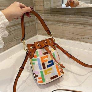 Handbags arco-íris mulheres mini balde saco na primavera e no verão zmm