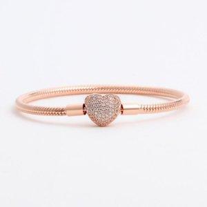 2021 Grossistes 925 Bracelets en argent Sterling 3mm Chaîne serpent Fit Pandora Charm Berf bracelet Bracelet DIY Bijoux Cadeau pour hommes Femmes