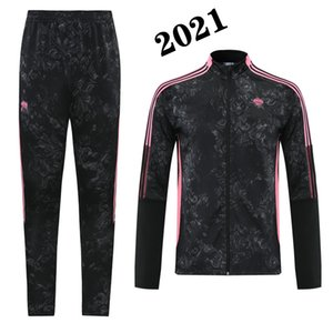 2021 tracksuit Sport jacket soccer BENZEMA Adult Training suit 20 21 HAZARD SERGIO RAMOS Sport Coat Maillots maillot de foot jacket kit