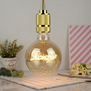 G125 antique bulb retro light letter love led filament lamps lights glass antiques Bulbs