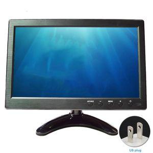 Monitors 10.1inch 1024x600 Portable Universal Digital Car BNC Input Ultra-thin VGA Remote Control LCD Monitor Video Audio For PC TV