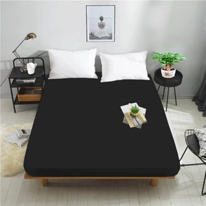Sheets & Sets 1 Piece 100% Cotton Reactive Dyed Solid Color Natural Fabric Adjustable Elastic Fitted Sheet Mattress Cover Multiple Size
