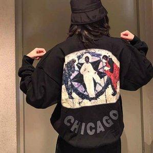 KANYE KANYE CHICAGO LIMITED Религиозная картина маслом Картина круглые шеи плюшевые свитер мужские и женские повседневные топ