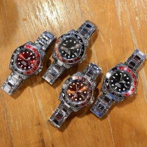 Luxurys дизайнеры часы 4 стиль фабрики часы кварцевые движения ремешок синий красный лупа сапфировый стекло 40 мм мужские смотрят бесплатный корабль SAG