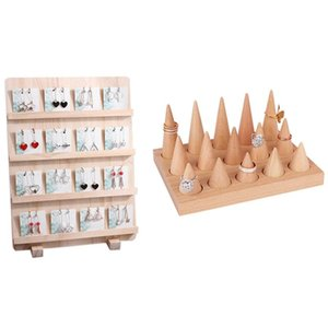Ring Display Tray Jewellery Storage Holder & Wood Jewelry Necklace Pendant Earrings Card Style Pouches, Bags