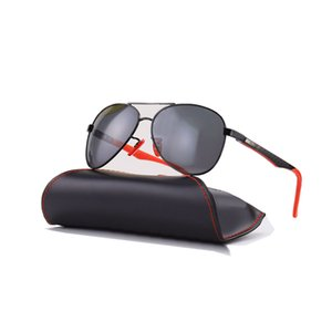 New sunglasses top quality luxury designer aviation pilot sun glasses for men women with black or brown leather case UV400 and boxs