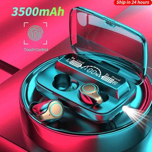 New 3500 Mah Wireless Bluetooth Led Sports Waterproof Display Stereo Headset with Microphone