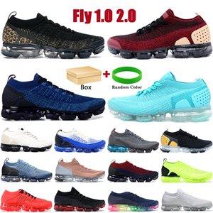 Kutu Fly 1.0 2.0 Erkek Koşu Ayakkabıları Çita Üçlü Siyah Beyaz Spor Glacier Mavi Bej Altın Erkek Kadın Sneakers