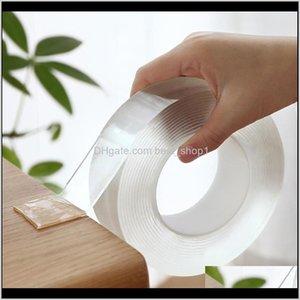 1m / 3m / 5m Nano-Band doppelseitiges Band transparent Notrace wiederverwendbar Wasserdichtes Klebstreifen Reinigungsfähiges Haus Gekkotape RO6JO MGAQF