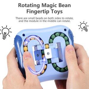 Girando feijão brinquedo inteligência dedo fingertip digital dedo dedo top infantil hamburger enigma cerebral brinquedos fy9407s