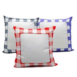 Novo Caso de travesseiro em branco 40 * 40cm Grade Calor 3 Cor Home Sofá Sofá Bedroom Almofada de Almofada Atacado