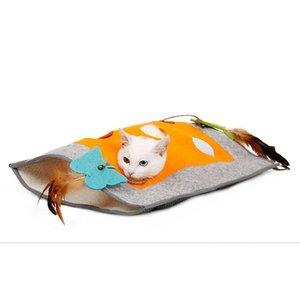 Katze Betten Möbel Weiche Haustierdecke Spiel Schlafsack Sack Tunnel Intelligenz Spielzeug Playmat Für kleine Katzen Haustiere Matte Zubehör