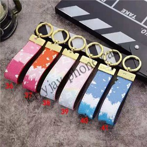 Luxury fashion Designer Handmade PU Leather Car Keychain Fashion designer keychain Women Bag Charm Pendant Accessories