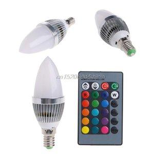 Bulbs E12 E14 3W RGB LED 15 Colors Changing Candle Light Bulb Lamp W Remote Control AC85-265V R11 Whosale&DropShip