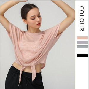 Luxury Party Dresses Relaxed T-shirt Lightweight Breathable Blouse Short Sleeve Fitns Top Women's Large Yoga Suit