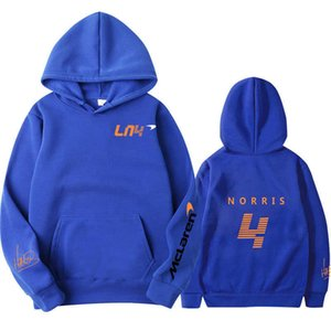 Lando Norris Mclaren F1 Team Racing Oversized Sportswear Hoodie for Men and Women Fall Winter
