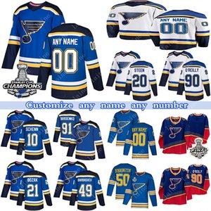 مخصص سانت لويس بلوز الهوكي Jerseys 91 فلاديمير Tarasenko 17 Jaden Schwartz 47 Torey Krug 99 Wayne Gretzky أي رقم واسم