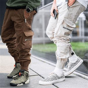 Mens Outdoor Cargo Pants Fashion Occident Trend Hip Hop Multiple Pocketst Pants Spring Male Felt Pocket Skateboard Casual Loose Trousers
