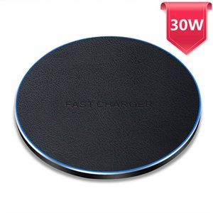 30W Qi Wireless Charger Type C USB Induction Fast Charging Pad For Samsung Xiaomi