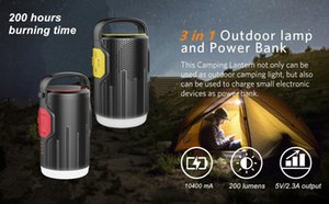 Multi-Functional Combo Led Camping Bluetooth Speaker Lantern 10400 mAh Power Bank