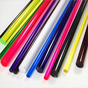 colorful swirl acrylic rod in 2m length