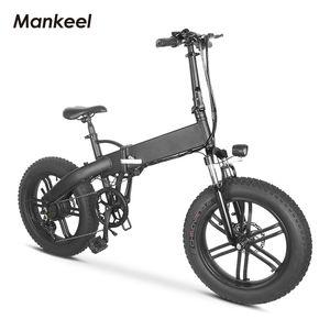 MANKEEL SCOOTER MK012 Bicicleta eléctrica 20 pulgadas 500W Potencia E-Bike 25km / H Velocidad máxima 10.4ah batería 40km MILLAJE MILLA DE MONTAÑA DE ADULTOS