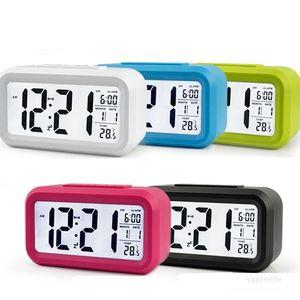 Masa Saati Akıllı Sensör Nightlight Dijital Çalar Saat Sıcaklık Termometre ile Sessiz Masa Başucu Uyandırma Snooze T2I51742