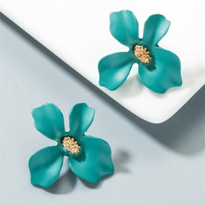 Personalized Candy Color Flower Stud Earring New Fashion Lovely Flowers Fashion Earrings for Women Girls Korea Style Jewelry 99 G2