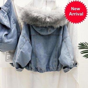 Warm Winter New Jacket Women Autumn Hooded Coat Female Jeans Denim Jackets Basic Ladies Top Women's Bomber Jacket 2020