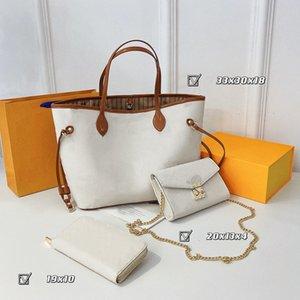 Fashion high quality Ladies handbag women's bag brand retro luxuryLady's messenger designer portable wallet zipper European and American star (three in one set)