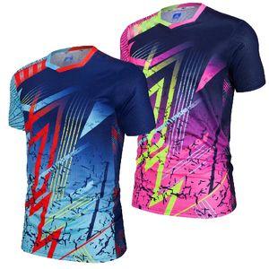 Herren, die T-shirt läuft, schnelles trockenes Kurzarm-Fitness-Hemd Basketball Fußball-Gym-Training Training Sports Shirts Top T-Shirt-Kleidung