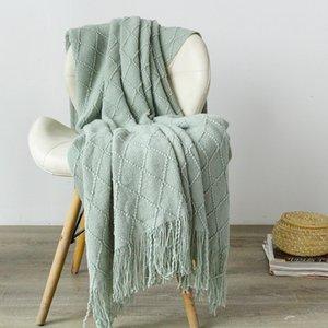 Nordic Super Soft Bedding Knitted Travel Throw Blanket Sofa Tassel Nap Bedroom Cover Blanket Bedspread Home Bed Sheet Blankets