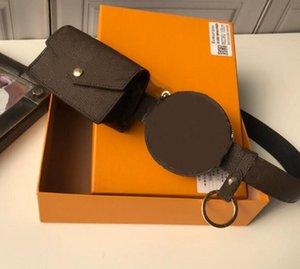 Brand Leather Belts Best designer Men Women Luxury Clutch Wallet Brown Flower Waist Bags Real Leather Purse With dust bag original box