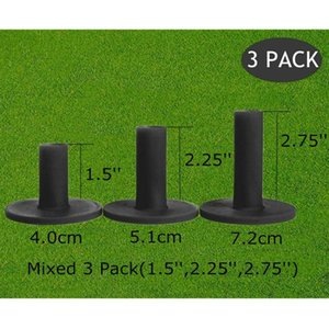 Golf Tees 83mm 70mm Rubber Tee For Driving Range Practice Tools Durable Training Ball Holder 3 Pcs Set Black Drop Aids