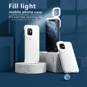 Fill Light Selfie Case For iPhone 12 Pro Max 11 Series Light Ring Phone Case Beauty Flash Case Capa Stable Shell for iPhone XR X Xs 7 Plus