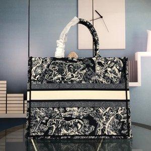 Çanta Kadın Moda Çanta Nakış Kaplan Desen Büyük Kapasiteli Lüks Marka Alışveriş Çantası Çanta El Yapımı Çift Taraflı Çiçek Promosyon